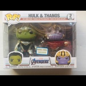 Hulk and Tanos Funko pop exclusive